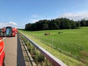 Zwei Rega-Helikopter standen im Einsatz. (Bild: Kantonspolizei St.Gallen)