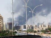 Erneut Rauchschwaden am Flughafen von Tripolis: In Libyen ist eine vereinbarte Waffenruhe gebrochen worden. (Archivbild 2014) (Bild: KEYSTONE/AP/UNCREDITED)
