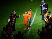 Wesley Sneijder erhielt im Spetember 2018 in Amsterdam einen würdigen Abschied aus der Nationalmannschaft (Bild: KEYSTONE/AP/PETER DEJONG)