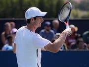 Andy Murray hat in Cincinnati sein erstes Einzelmatch auf der ATP-Tour seit Januar bestritten. Der Schotte unterlag unterlag dem Franzosen Richard Gasquet 4:6, 4:6 (Bild: KEYSTONE/AP/JOHN MINCHILLO)