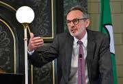 Canisius Braun in einer Sitzung des Kantonsrates. (Bild: Regina Kühne)