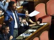 Italiens Innenminister und Lega-Chef Matteo Salvini am Dienstag im Senat in Rom. (Bild: KEYSTONE/EPA ANSA/MAURIZIO BRAMBATTI)