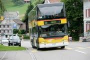 Der Bus der Linie 120 fährt zwischen Heiden und St.Gallen. Bei der Fahrt von Eggersriet Post nach St.Gallen hat ein Postauto in der Nacht auf Sonntag nicht überall gehalten. (Bild: Reto Martin (Eggersriet, 13. August 2010))