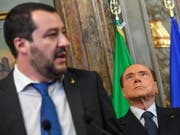 Lega-Chef Matteo Salvini arbeitet anscheinend an einer Allianz mit Forza Italia von Silvio Berlusconi. (Bild: Keystone/AP ANSA/ALESSANDRO DI MEO)