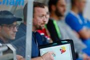 Der neue Cham-Trainer Roland Schwegler spielte zwischen 2007 und 2010 für den FCL als Profi. (Bild: Stefan Kaiser, Cham, 07. August 2019)