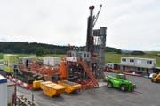 In Trüllikon (ZH) haben diese Woche die Sondierungsbohrungen für ein potenzielles Atommüll-Endlager begonnen. (Thomas Güntert)