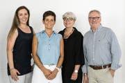 Mitarbeiterinnen Michèle Thür-Federer und Jeannette Wallner mit den Geschäftsführern Judith und Urs Thür. (Bild: PD)