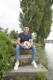 Luan Haxhimurati will für den SC Obergeissenstein in der regionalen 2. Liga auf Torejagd gehen. Bild: Michael Wyss (Luzern, 12. August 2019)