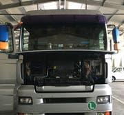 Das Abgassystem des ungarischen Lastwagens war manipuliert. (Bild: Eidg. Zollverwaltung)