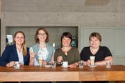 Das Bistro-Zeit-Team: v.l. Manuela Forter, Martina Mark, Caroline Naeff, Cäcilia Niederer (Foto: PD)