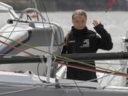 Schaffte es in der ersten Nacht ihrer Jachtfahrt von Europa aus in die USA 65 Seemeilen weit: die schwedische Umweltaktivistin Great Thunberg. (Bild: KEYSTONE/EPA AP POOL/KIRSTY WIGGLESWORTH / POOL)