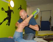 David Andreoli arbeitet in Luzern als leitender Sportphysiotherapeut in einer Gesundheitspraxis. Beim FC Littau steigt er wieder ins Fussballgeschäft ein.Bild: Michael Wyss (Luzern, 12. August 2019)