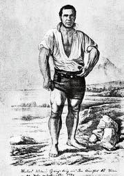 Schwinger oder Sagengestalt? Matthis Witter, genannt «der starke Thys», eine Figur aus der Mitte des 19. Jahrhunderts. (Bild: PD)