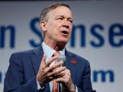 Hatte zuletzt Probleme, Spenden einzutreiben: der demokratische Präsidentschaftsanwärter John Hickenlooper aus Colorado. (Bild: KEYSTONE/AP/CHARLIE NEIBERGALL)