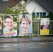 Im Thurgau: Plakate vor den nationalen Wahlen 2015. (Bild: Ralph Ribi, 14.9.2015)