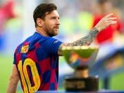 Einer der drei Finalisten: Lionel Messi (Bild: KEYSTONE/EPA EFE/ANDREU DALMAU)
