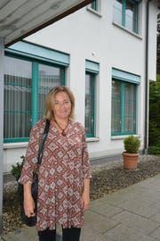 Nadja Rechsteiner, Geschäftsführerin der Kinderbetreuung Herisau, vor dem neuen Standort an der Schwellbrunnerstrasse. (Bild: Mea McGhee)