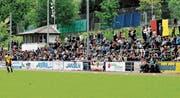 Die Tribüne der Altstätter Gesa wird im Spiel gegen Bassecourt kaum so gut besucht sein wie 2016, als bei Altstätten gegen Rebstein 800 Zuschauer kamen. (Bild: Archiv/Remo Zollinger)