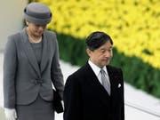 Der japanische Kaiser Naruhito und Kaiserin Masako an einer Gedenkveranstaltung zur Kapitulation Japans im Zweiten Weltkrieg. (Bild: KEYSTONE/EPA/KIYOSHI OTA)