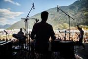 The Rising Lights am Donnerstagnachmittag auf der Bühne des Open Air Gampel. (Bild: PD/Janik Witzig)