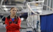 Greta Thunberg vor ihrer Abreise. (Bild: Keystone/AP Photo/Kirsty Wigglesworth)