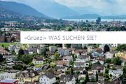 Im Mittelpunkt der überarbeiteten Startseite steht die Suchabfrage «Grüezi, was suchen Sie?». (Bild: Screenshot)