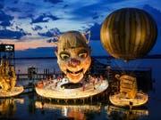 180'000 Zuschauerinnen und Zuschauer werden bis am Sonntagabend Verdis Oper «Rigoletto» auf der Seebühne in Bregenz gesehen haben. (Bild: KEYSTONE/EDDY RISCH)