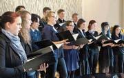 Chorsingen ist in St.Gallen auch bei jungen Leuten in: der von ehemaligen Burggraben-Schülern 2014 gegründete Chor Vokal.Bild: PD