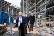 Investor Samih Sawiris 2016 in Andermatt. (Bild: Alexandra Wey/Keystone)