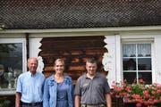 Ernst Steiner, Sandra Böniger und Hansueli Alder (von links). (Bild: Ruben Schönenberger)