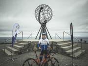 Der österreichische Extremsportler Wolfgang Fasching ist mit dem Fahrrad in Rekordzeit von Gibraltar bis zum Nordkap gefahren. (Bild: KEYSTONE/APA/LIME-ART.AT/MANUEL HAUSDORFER)