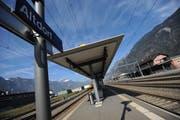 Der Kantonsbahnhof Altdorf spielt eine wichtige Rolle im neuen Verkehrskonzept des Kantons Uri. (Bild: Urs Hanhart)