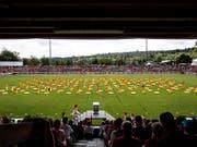 Schlussfeier des Eidgenössischen Turnfests im Juni 2019 im Stadion Brügglifeld in Aarau. (Bild: KEYSTONE/ALEXANDRA WEY)
