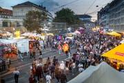 Das musikalische und kulinarische Angebot am St.Galler Fest ist enorm. (Bild: Urs Bucher)