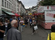 Am Samstagmittag in der Marktgasse. (Bild: Miguel Lo Bartolo - 17. August 2019)