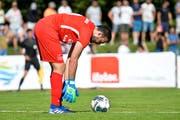 Calcio-Goalie Bruno Donnici steigerte sich nach dem Gegentreffer zum 0:1 und hielt sein Team mit teils spektakulären Paraden im Spiel. (Bild: Donato Caspari)