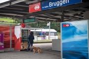 Bruggen ist gemessen an den Passagierzahlen mit Abstand der kleinste St.Galler Stadtbahnhof. Er hat nach Meinung von Stadt und Kanton aber eine Zukunft, auch wenn dafür Verbesserungen nötig sind. (Bild: Ralph Ribi - 3. September 2018)