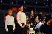 Yannis Keller und Emanuele Grande ergänzten mit ihrem Knabensopran das Ensemble und hatten in der Zugabe sogar ein Solo.