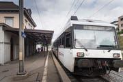 Der Bahnhof Bruggen soll bis 2026 behindertengerecht saniert sein. Ab 2024 sind provisorische Verbesserungsmassnahmen als Überbrückung geplant. (Bild: Ralph Ribi - 3. September 2018)