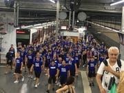 Die FCL-Anhänger nach dem Match auf dem Rückweg. (Bild: z. V. g.)