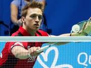 Christian Kirchmayr vertritt die Schweiz an den Badminton-Weltmeisterschaften in Basel im Männer-Einzel (Bild: KEYSTONE/EPA EFE/JOSE MANUEL VIDAL)
