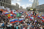Proteste in Moskau (AP Photo/Pavel Golovkin, File)