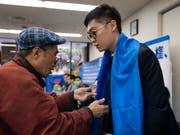 Wurde am Freitag in Hongkong festgenommen: der Anti-China-Aktivist Andy Chan. (Bild: KEYSTONE/AP/JAE C. HONG)