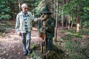 Josef Scherrers Figuren erinnern an Illustrationen in Märchenbüchern. (Bild: Maya Heizmann)