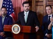 Nur noch bis am Freitagmittag im Amt: Puerto Ricos umstrittener Gouverneur Ricardo Rosselló. (Bild: KEYSTONE/AP/CARLOS GIUSTI)