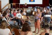 Die Klimajugendlichen beschliessen Ende Juli am 4. nationalen Klima-Gipfel im Berner Kirchgemeindehaus Johannes in Bern eine Charta für alle Nationalratskandidaten. (Bild: Bild Annette Boutellier)