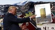 US-Präsident Trump doppelt mit einem Tweet nach. (Bild: Keystone/AP/Twitter, Montage: sam)