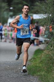 Remo Betschart feierte bei den Volksläufern einen überlegenen Sieg. (Bild: Urs Hanhart, Seedorf, 21. August 2019)