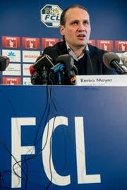 FCL-Sportchef Remo Meyer. (Bild: Nadia Schärli, Luzern, 18. Februar 2019)