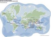 Alle Vorschläge, die in Genf diskutiert werden. Für europäische und nordamerikanische Arten sind keine Schutzanträge eingereicht worden. Grafik: Selina Buess